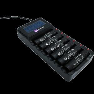 Chargeur multiple pour 6 batteries